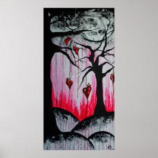 Affiche originale d'art de hauts - et - arbres