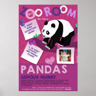 Affiche-Panda d'Affiche-Animal de conservation Affiche