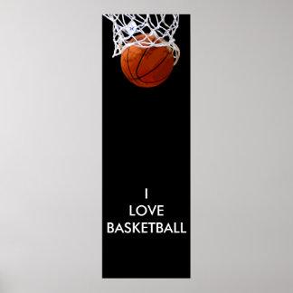 Affiche panoramique de basket-ball d'amour d'I
