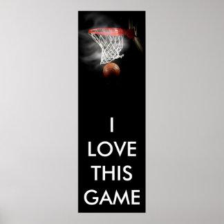 Affiche panoramique de basket-ball posters