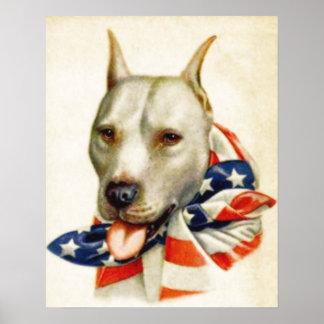 Affiche patriotique américaine vintage de guerre