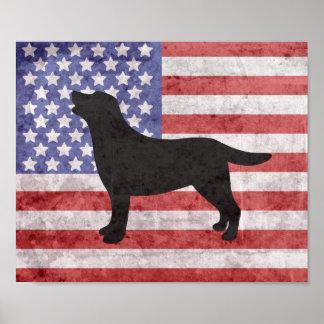 Affiche patriotique d'ensemble de Labrador 4 Posters