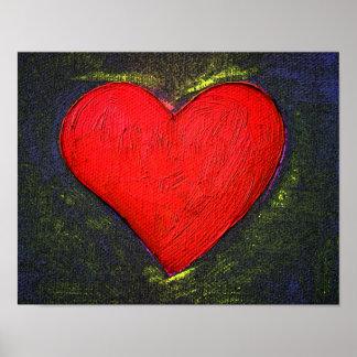 Affiche peinte de coeur