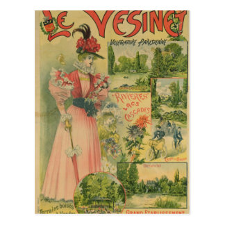 Affiche pour Chemins de Fer De à Le Vesinet Carte Postale