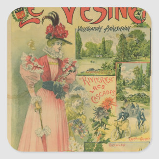 Affiche pour Chemins de Fer De à Le Vesinet Sticker Carré