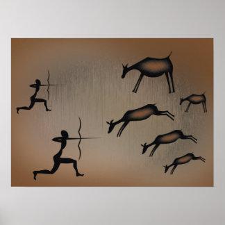 Affiche primitive d'art de caverne posters