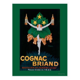Affiche promotionnelle de Briand de cognac Cartes Postales