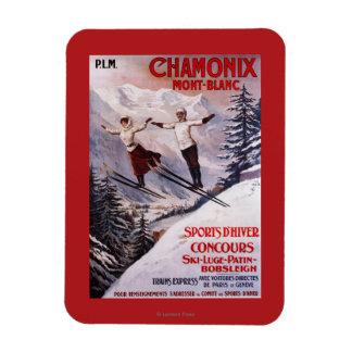 Affiche promotionnelle de ski magnets souples