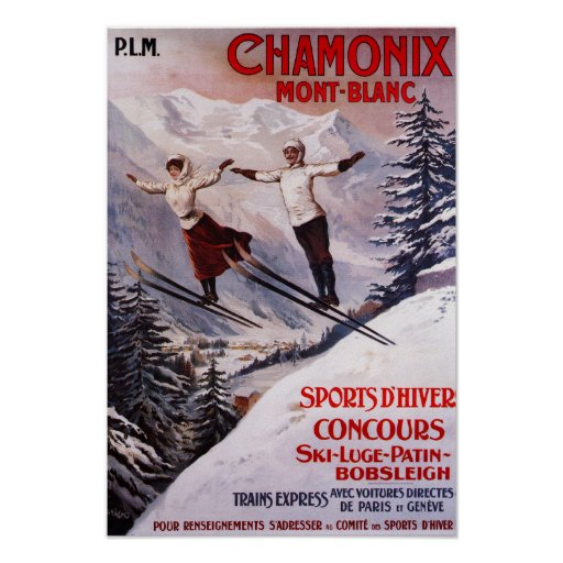 Affiche promotionnelle de ski