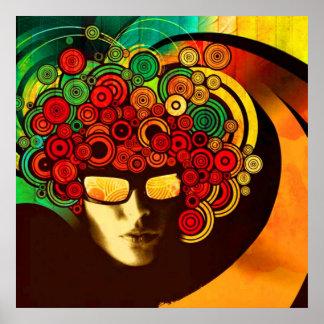 affiche psychédélique d'art de bruit de 8,99