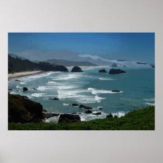 Affiche rocheuse de la côte 36 x 24
