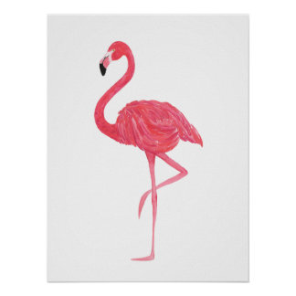 posters affiches flamant rose personnalis s. Black Bedroom Furniture Sets. Home Design Ideas