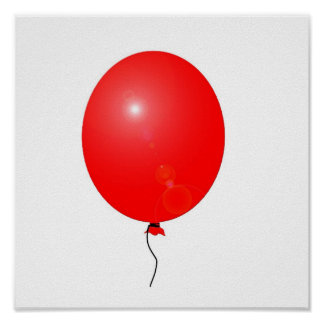 affiche rouge de ballon