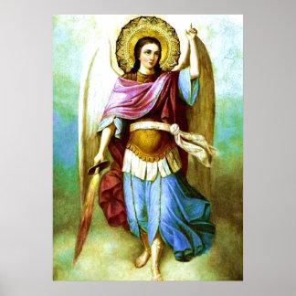 Affiche sainte d'Arkhangel St Michael d'ange Posters