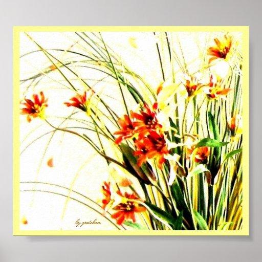 Affiche sensible 3 de fleurs