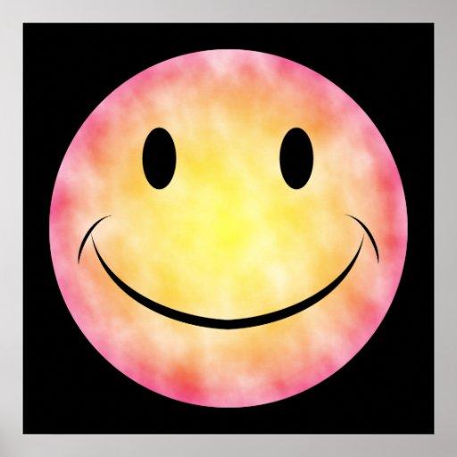Affiche souriante de visage de colorant de cravate