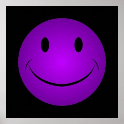 Affiche souriante pourpre de visage