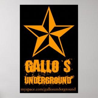 Affiche souterraine d'Emo de Gallo