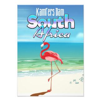 Affiche sud-africaine de voyage de barrage de photo d'art