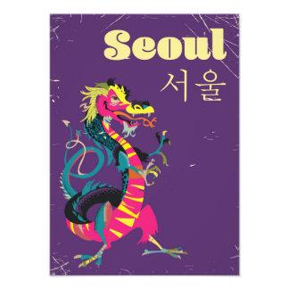Affiche sud-coréenne de voyage de Séoul Photographes