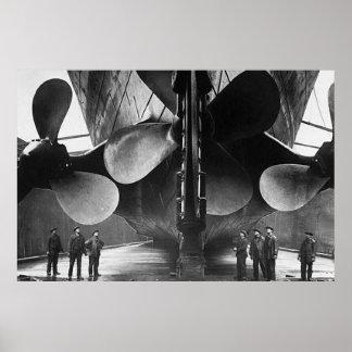 Affiche TITANIQUE de propulseurs de RMS Posters