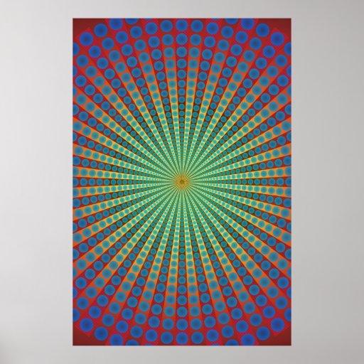 Affiche : Tunnel des sphères : Art psychédélique