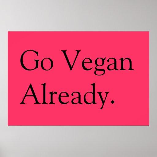 affiche végétalienne