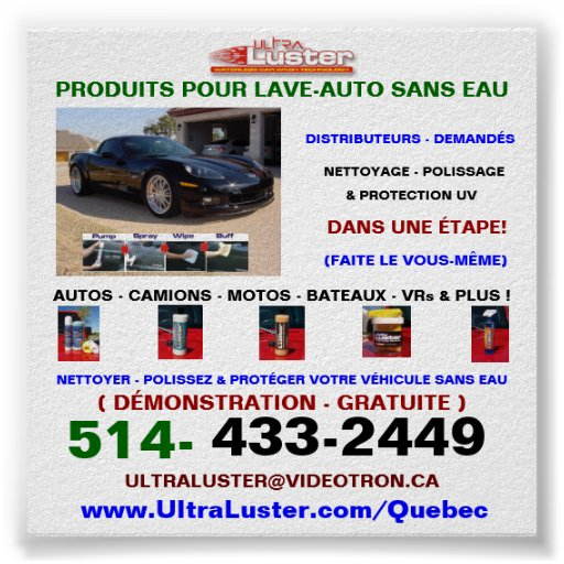 Affiche versent Produits UltraLuster versent l'aut