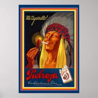 Affiche vintage 13 x 19 d'annonce de cigarette de poster