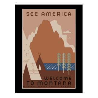 """""""Affiche vintage 2"""" de WPA Montana Carte Postale"""