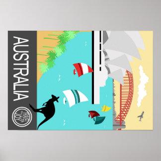 Affiche vintage Australie de voyage Posters
