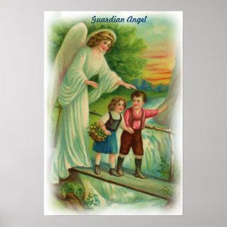 Affiche vintage d'ange gardien