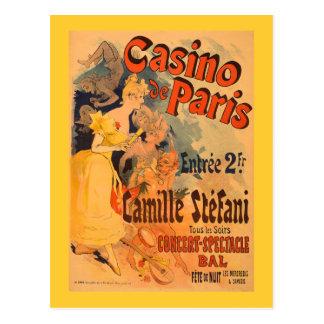 Affiche vintage d'art du casino De Paris Carte Postale