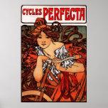 Affiche vintage de bicyclette d'Alphonse Mucha