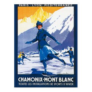 Affiche vintage de Chamonix - de Mont Blanc Cartes Postales