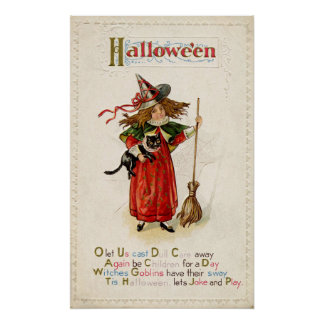 Affiche vintage de décor de partie de chat de posters