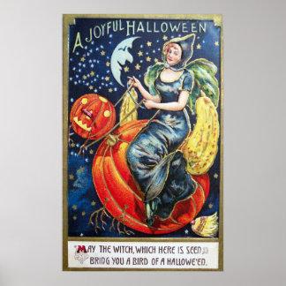 Affiche vintage de décor de partie de citrouille posters