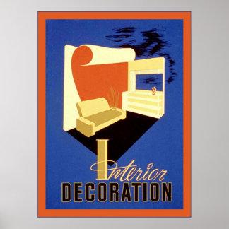 Affiche vintage de la publicité de ~ de décoration