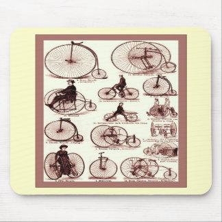 Affiche vintage de la publicité de ~ de vélos sur  tapis de souris