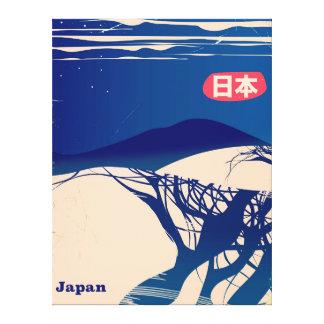 Affiche vintage de ligne aérienne d'arbres d'hiver toile