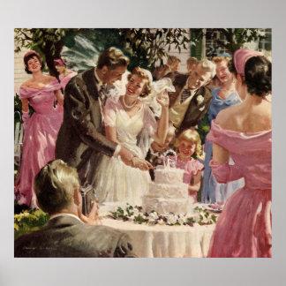 Affiche vintage de mariage
