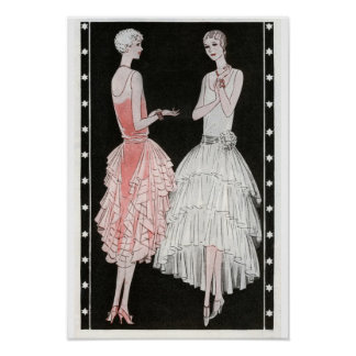 Affiche vintage de mode posters