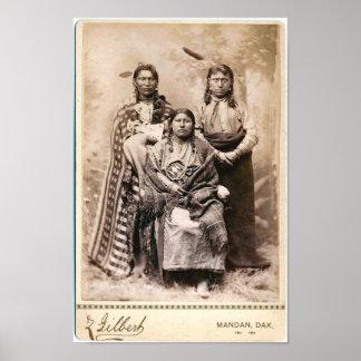 Affiche vintage de Natif américain