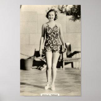 Affiche vintage de portrait de vedette de film des posters