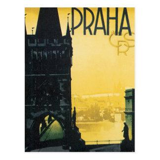 Affiche vintage de Praha Carte Postale
