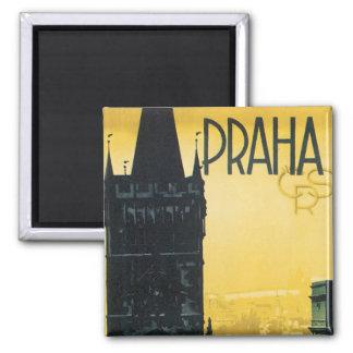 Affiche vintage de Praha Magnet Carré