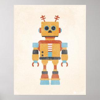 Affiche vintage de robot posters
