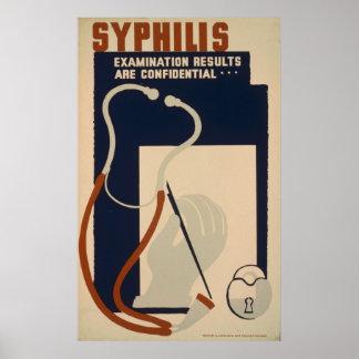 Affiche vintage de santé de WPA de syphilis Posters