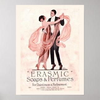 Affiche vintage de savon et de parfum posters