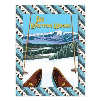Affiche vintage de ski, ski Bretton Woods Cartes Postales